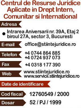 Contact: Servicii Juridice Online